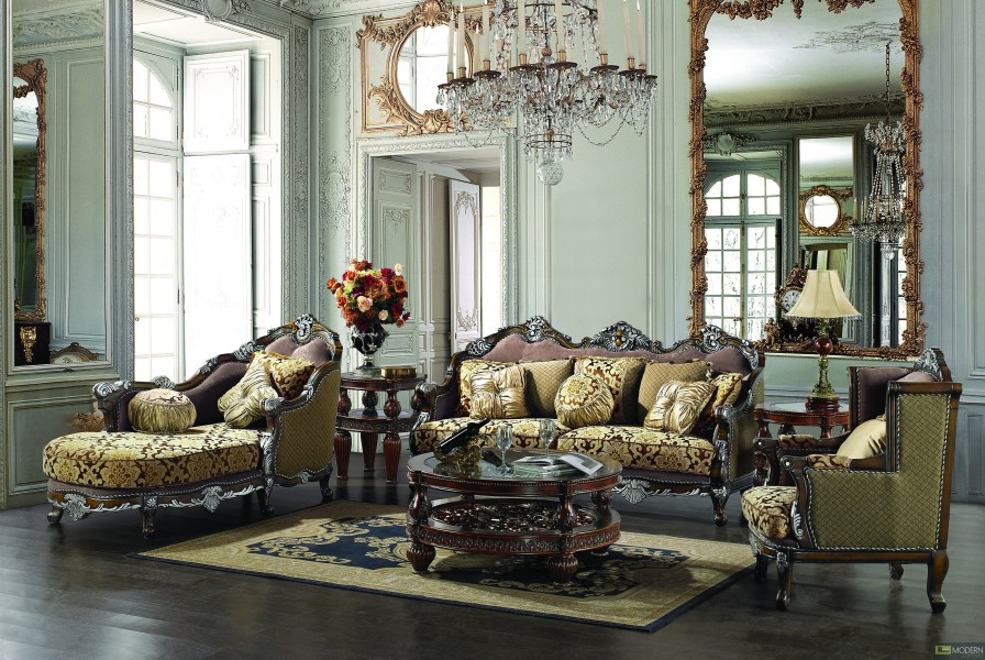 Traditional Upholstery French European Design Formal Living Room     More Views