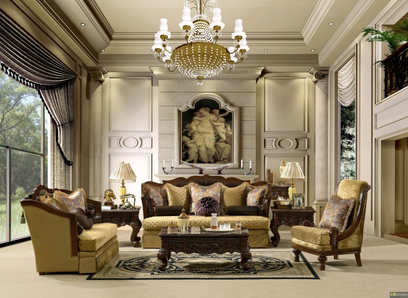 Traditional Sofa Set Formal Living Room Furniture HD 1713 More Views