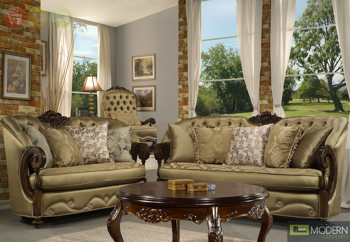 Elegant Traditional Formal Living Room Furniture Collection MCHD33 More Views