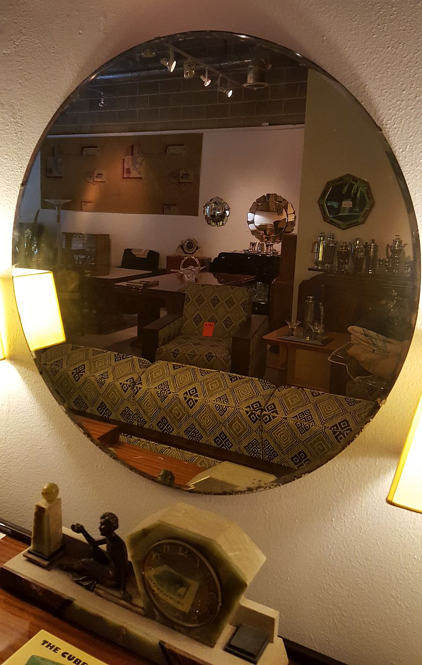Vintage Beveled Mirror Wall