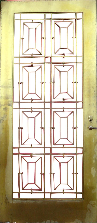 Fabulous Art Deco Bronze Door With Glass Enclosure Modernism