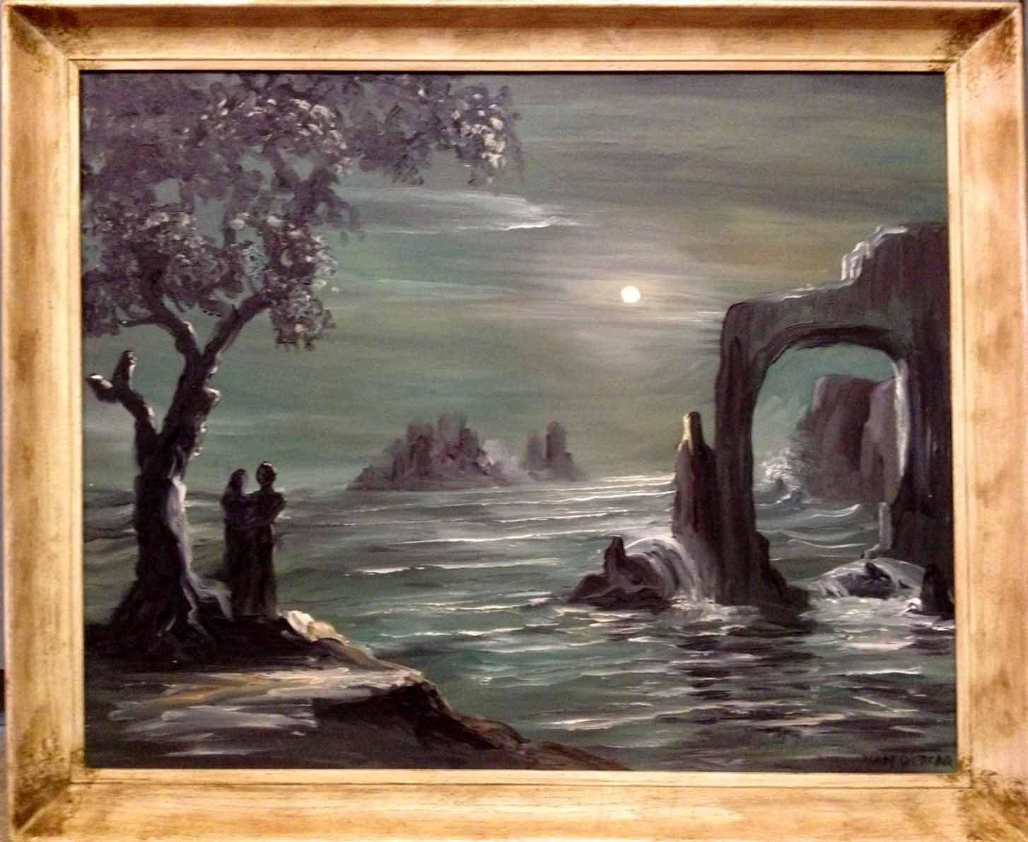 Mid Century Modern Painting By Lewis Vandercar Miami Magic