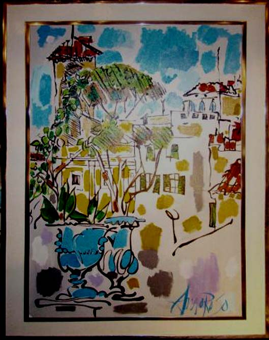 Mid Century Modern Abstract Painting By Jack Amoroso
