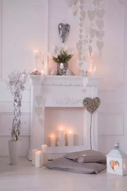 Elegant fireplace with a wide plinth