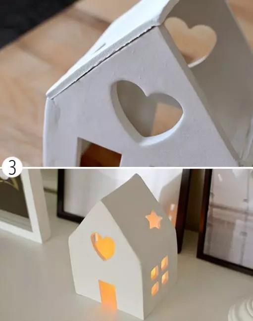 شمع را در وسط یک خانه قرار دهید