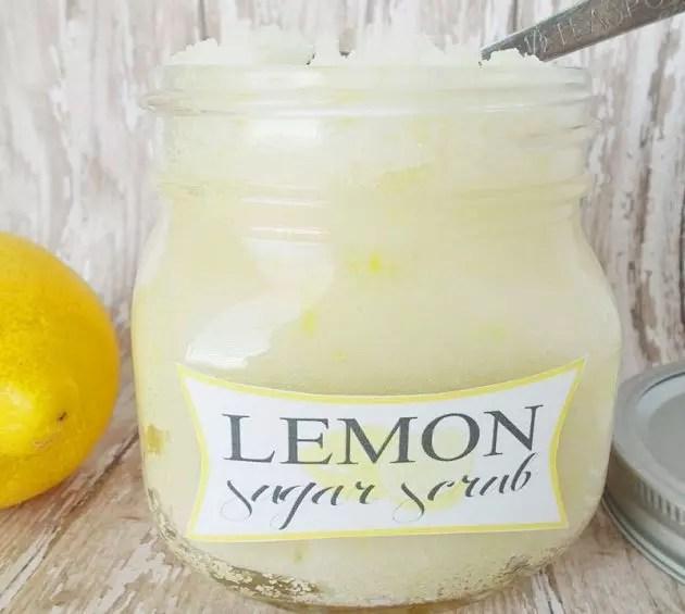 Сахарно-лимонный скраб своими руками