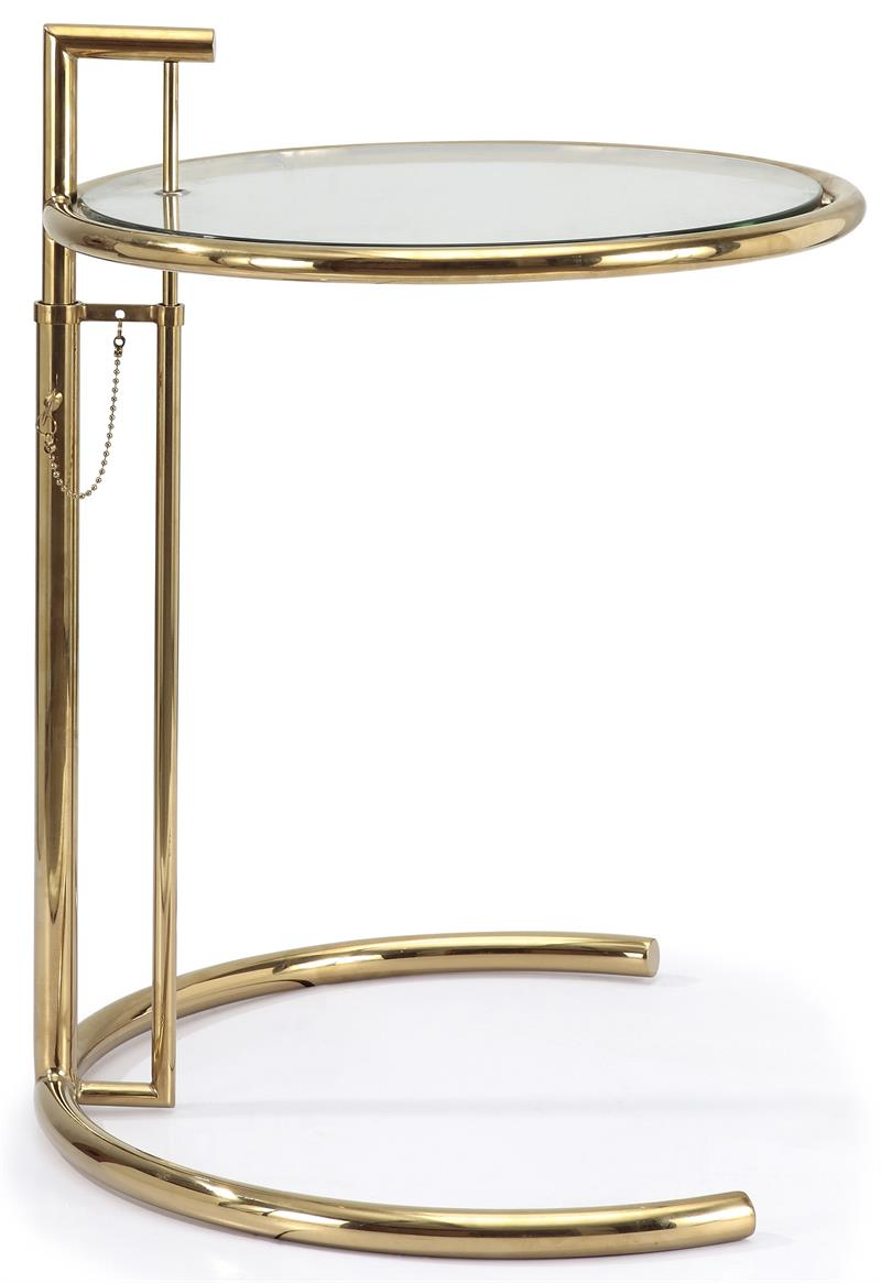 Eileen Gray Side Table In Gold Finish Side Tables And