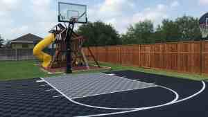 Backyard Basketball Court Flooring ModuTile Outdoor