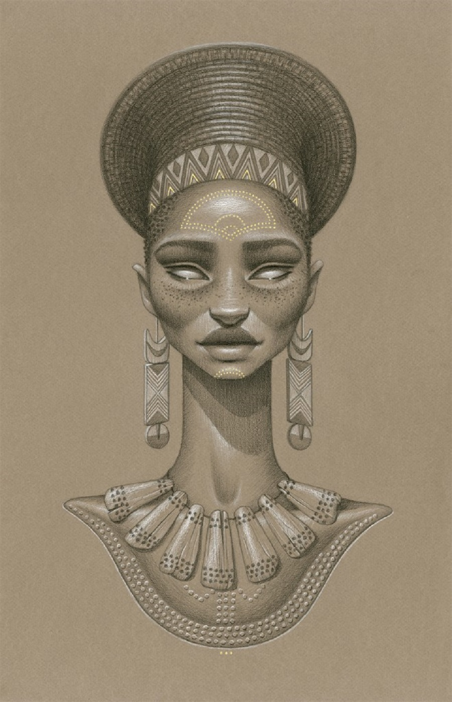 Zulu Pencil African Drawings