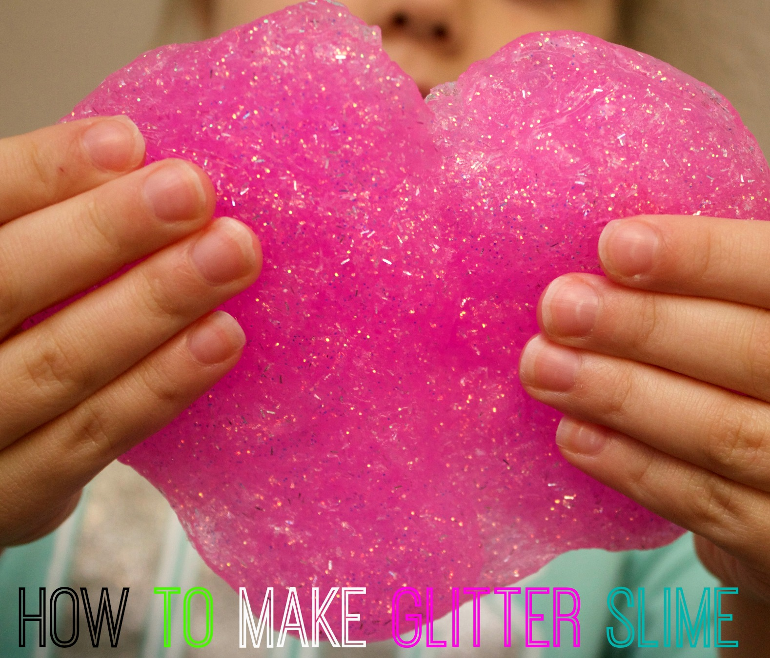 Glitter Slime Recipe with Only 3 Ingredients! Mom Luck