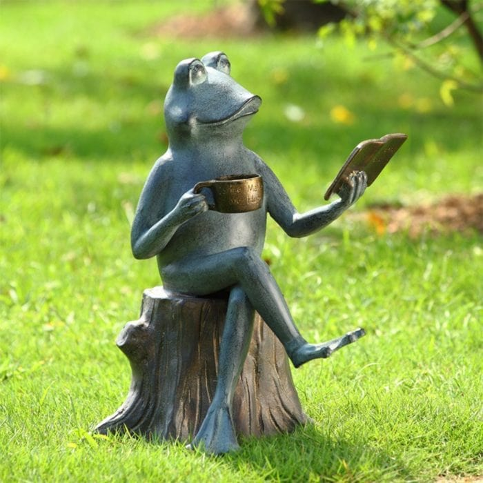 Frog Garden Statues Outdoor Decor