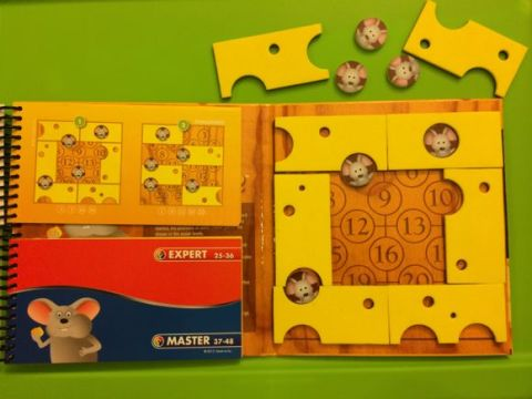 IQ Building Fun with Brain Cheeser from SmartGames   Mommy University Here is an example of a challenge set up on the game grid