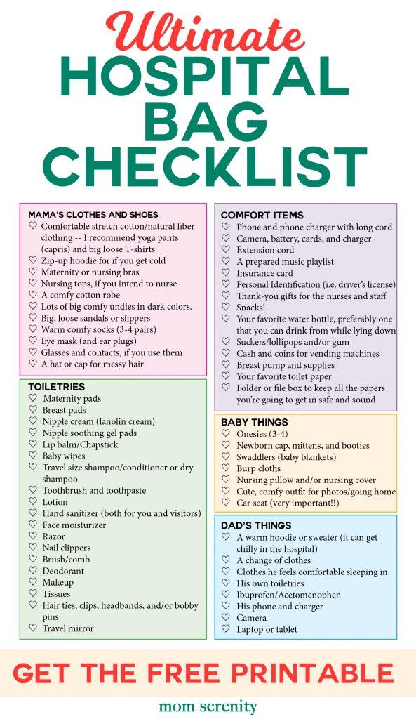 Pregnancy Hospital Bag List