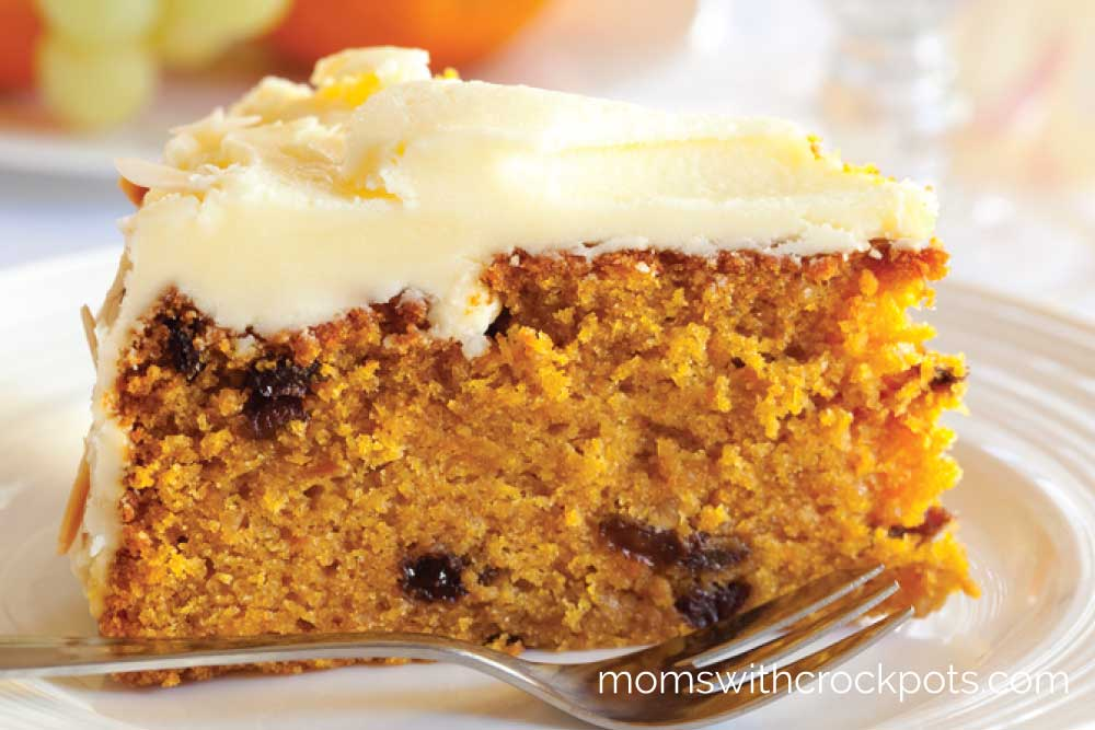 Crockpot Carrot Cake   Moms with Crockpots Bake a cake in your crockpot  Perfect for Spring or Easter give this yummy  Crockpot