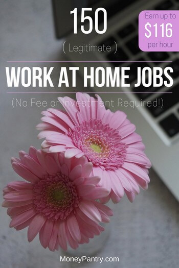 150 Legit Amp Real Work At Home Jobs With No Startup Fee
