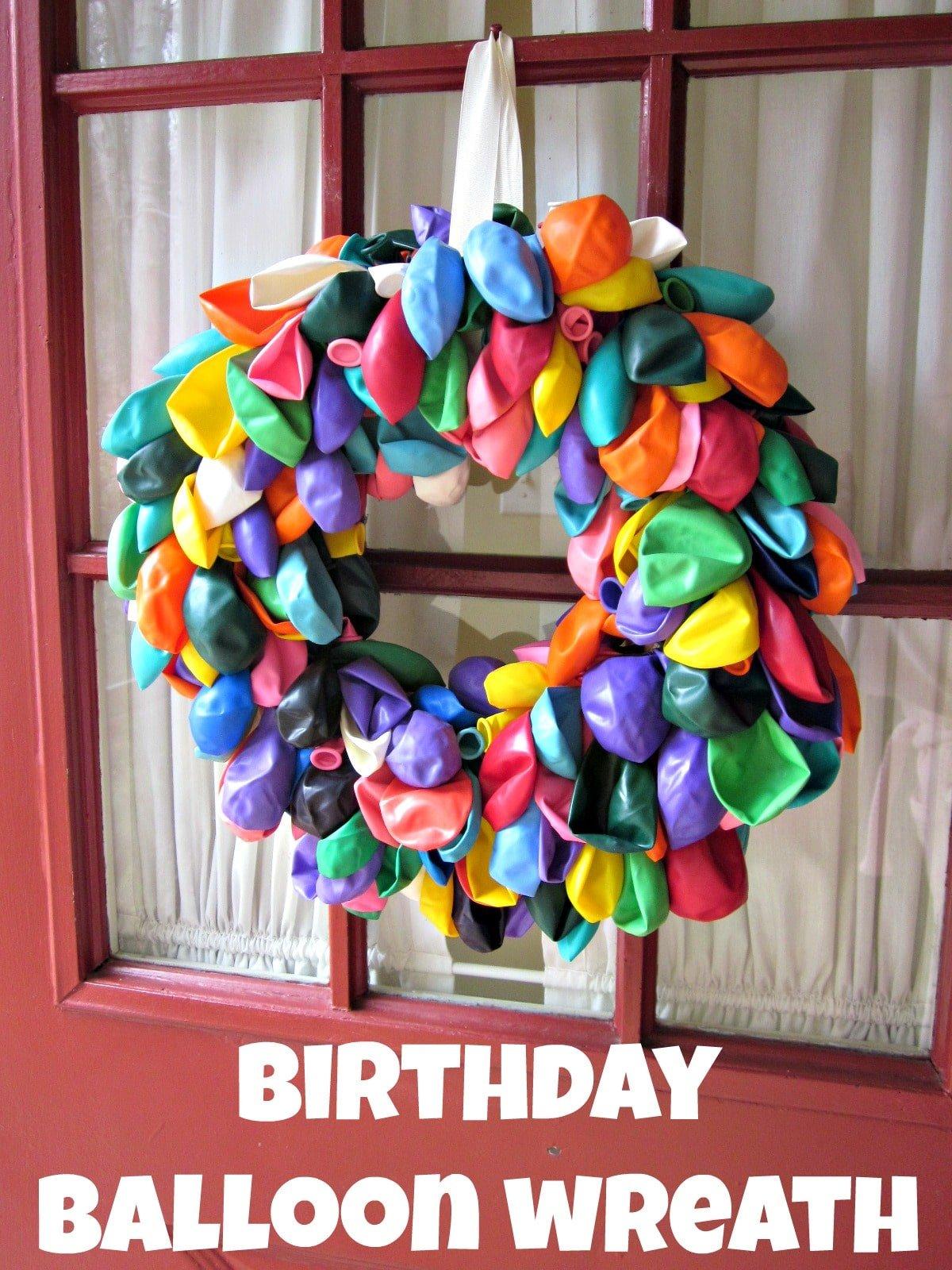 Birthday Balloon Wreath Moneywise Moms