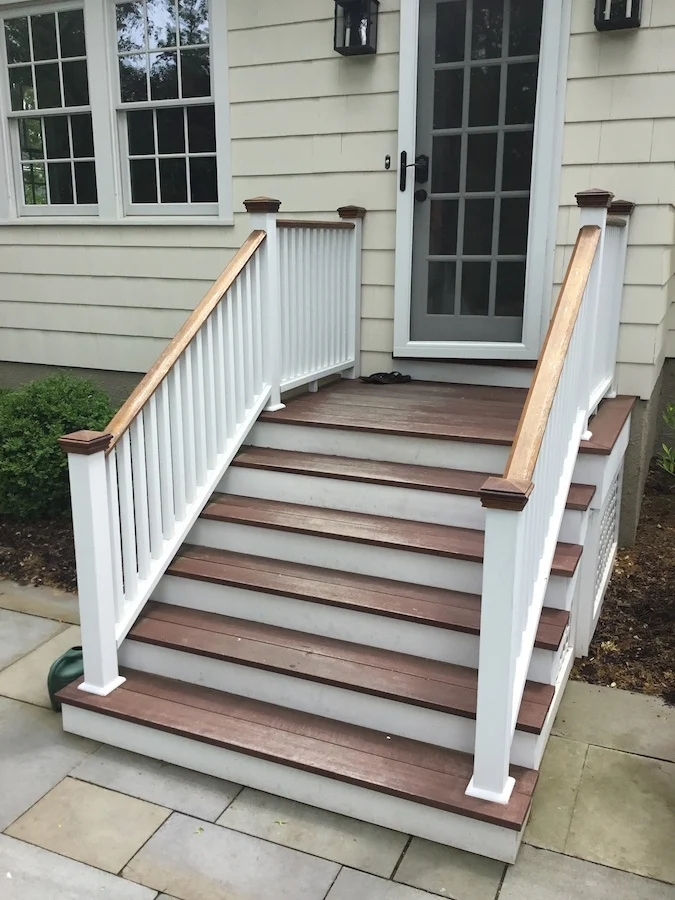 Staining Exterior Stairs In Chatham Nj Monk S Home Improvements   Designs Of Stairs Outside House