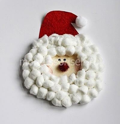 Applique Santa Claus z bavlněných kuliček s Popmine