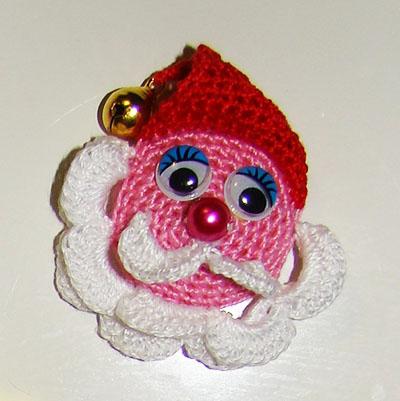 Suvenýr Santa Claus háčkování