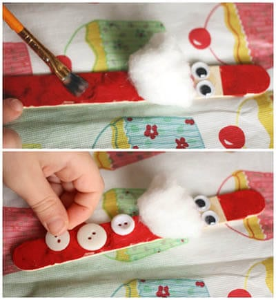 Santa Claus dari kayu dari ais krim