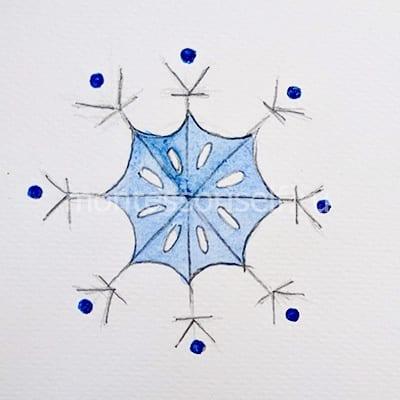 Cor o interior do floco de neve
