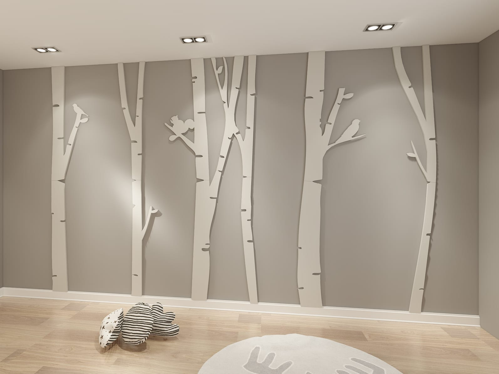 Birch Tree 3D Wall Art - Moonwallstickers.com