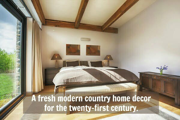 Modern Country Home Decor   Get That Grounded Feeling bedroom in modern country home decor