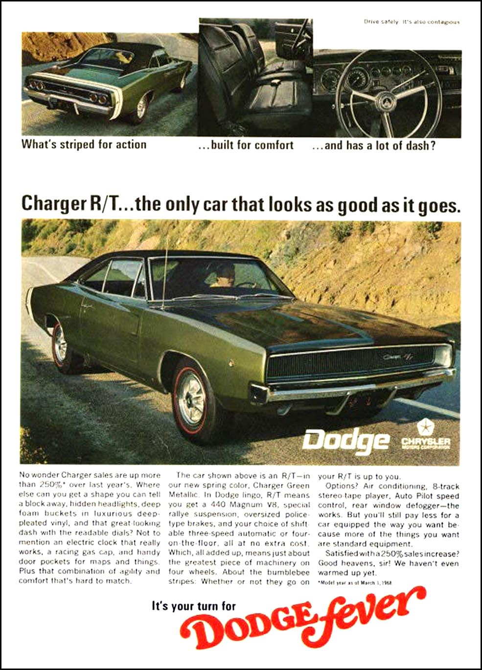 1968 70 Dodge Charger Ads Mopar Blog
