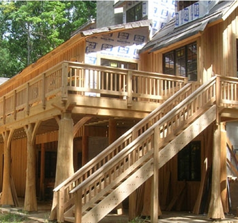 Timber Stairs Handrails Interior And Exterior Custom Built By | Exterior Wood Stair Railing | Stone | Timber | Second Floor | Landing | Step
