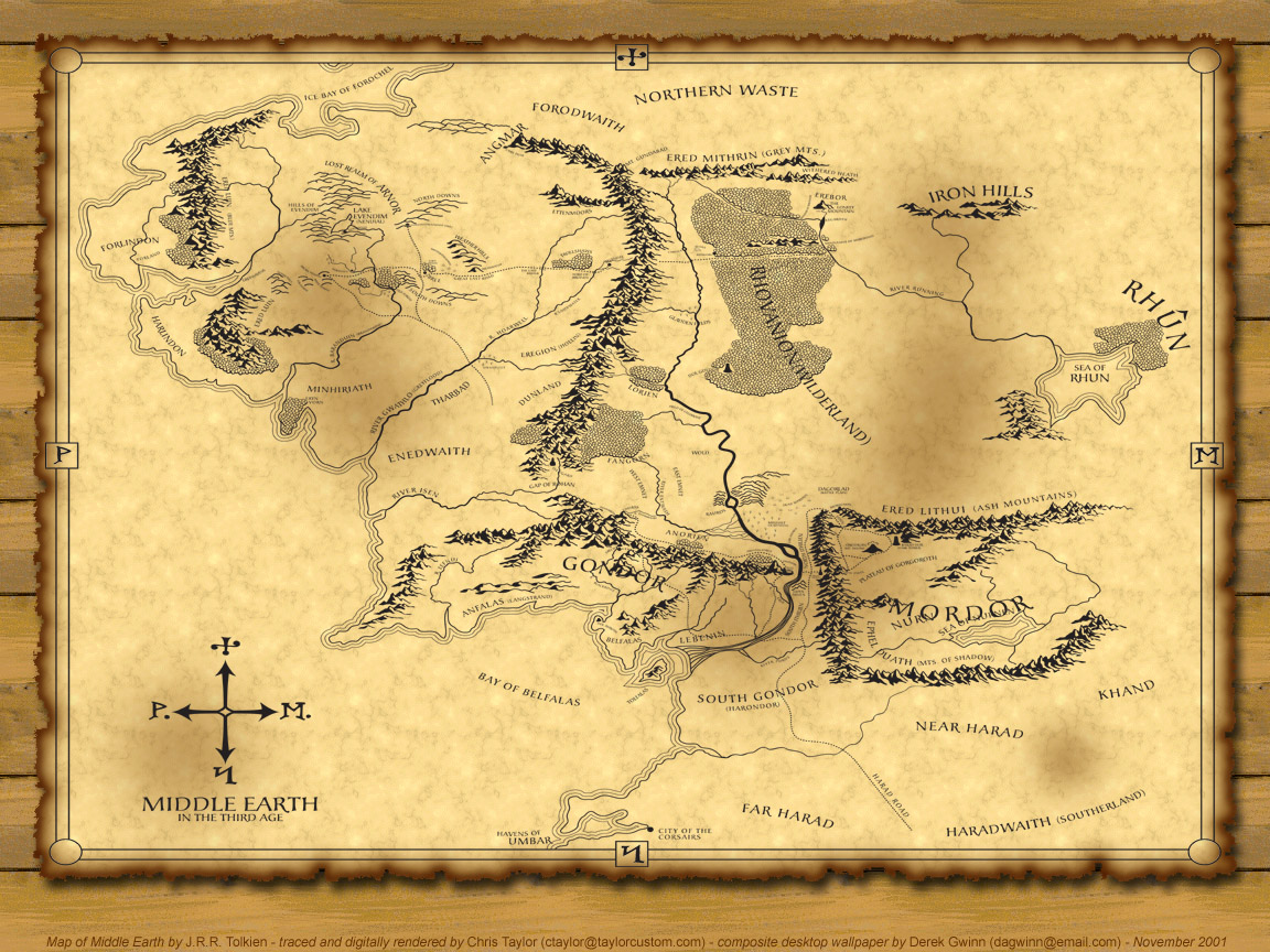 Maps Shire Middle Earth