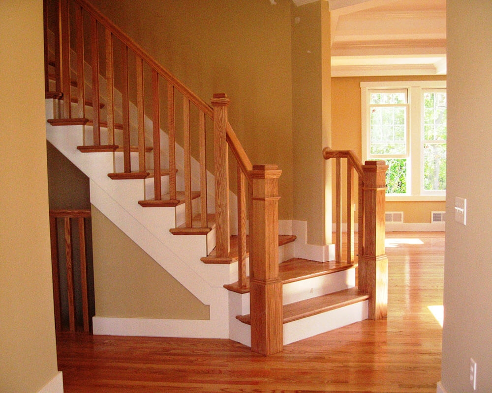 Stairs Railings Wm B Morse Lumber Co | Exterior Wood Handrails For Steps | Attached | Ready Made | Off Deck | Stoop | Pinterest