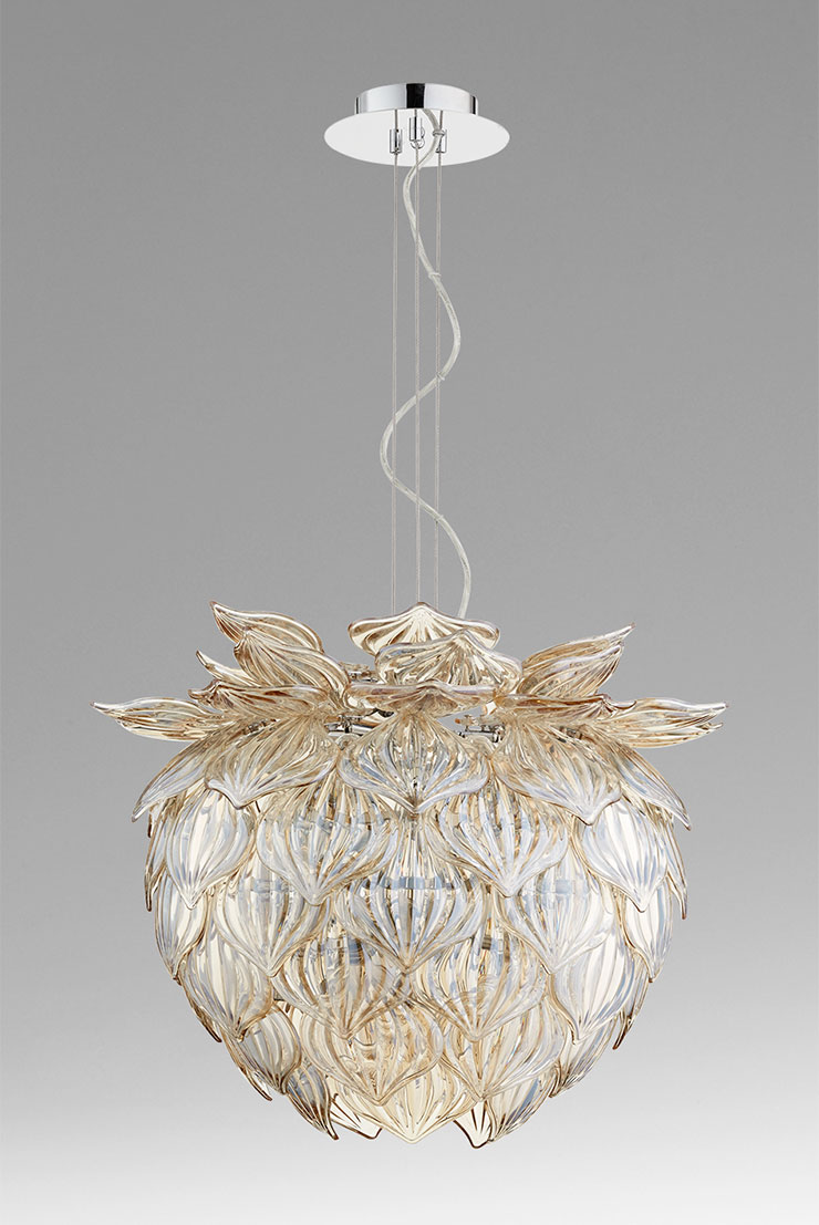 Lotus Flower Pendant Light Moss Manor A Design House