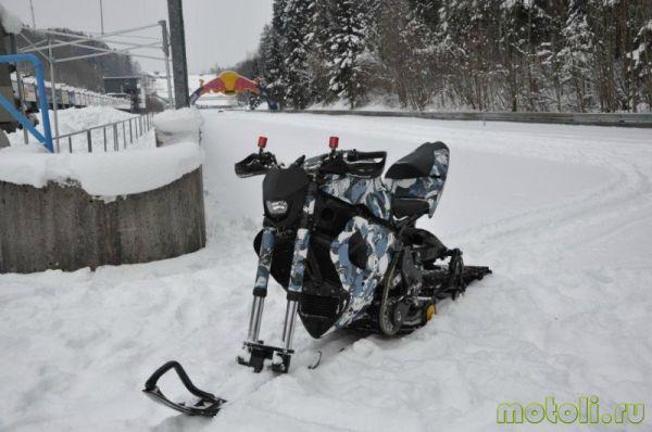Snowmobile motosikal.