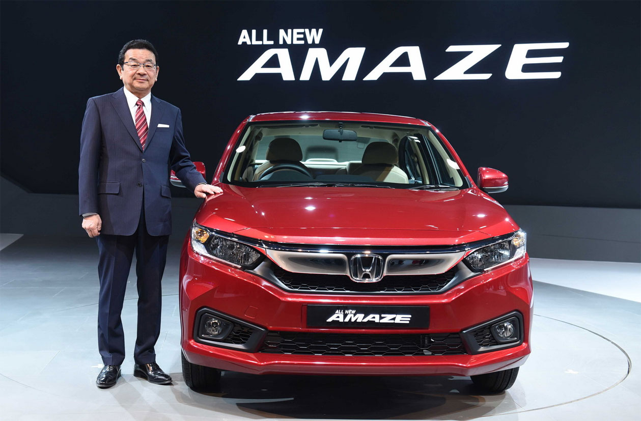 2018 Honda Amaze โฉมใหม่ เจนเนอเรชั่น 2 เผยโฉมที่อินเดีย