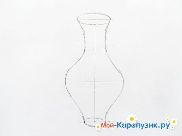 Krok za krokem kreslení váza s barevnými tužkami - foto 5