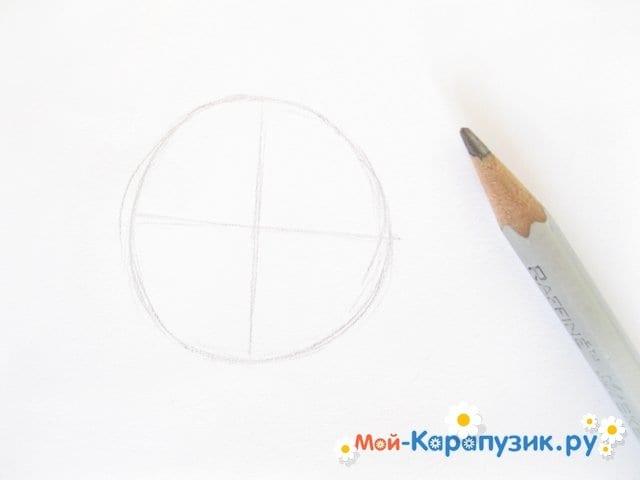 """Поэтапное рисование Маши из м/ф """"Маша и Медведь"""" цветными карандашами - фото 2"""