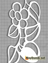 Эскиз наличников на окна - цветы