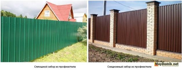 Typy (typy) plotu od profesionální podlahy