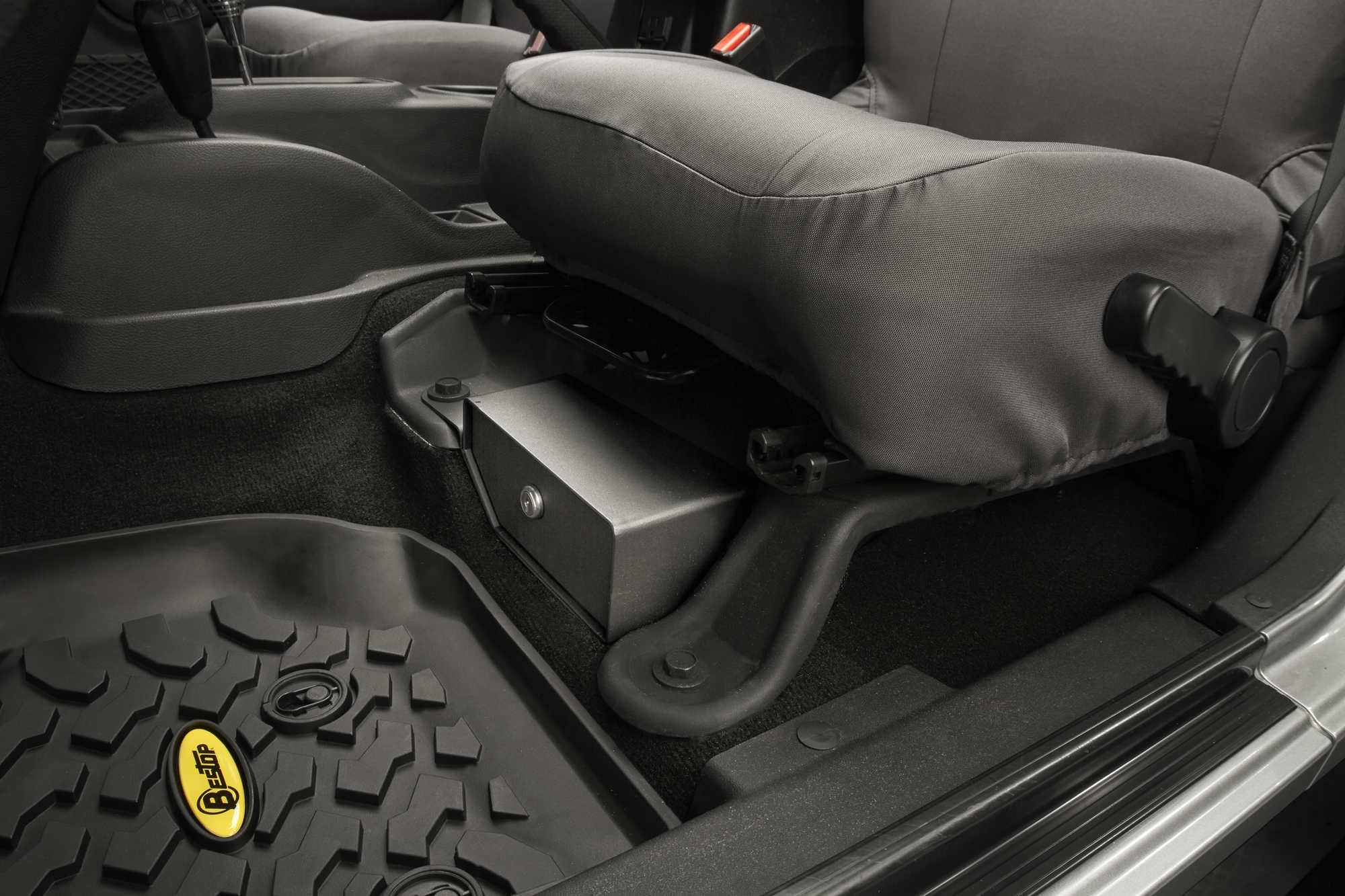 Bestop 174 Locking Under Seat Storage Box In Textured Black