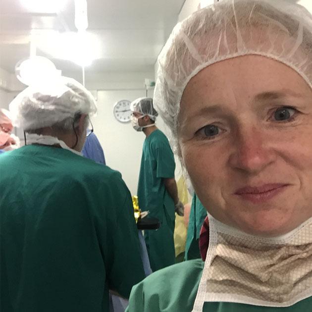 Kathrine var udsendt som kirurg i Irak i 2017