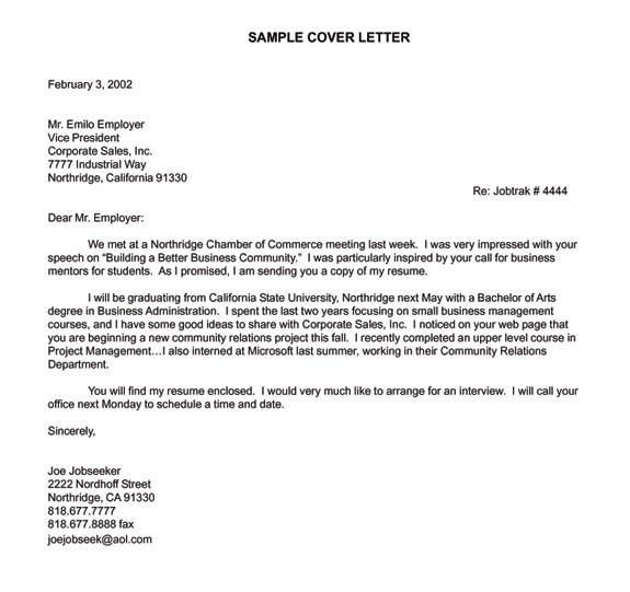 Samples Cover Coordinator Letter Communication