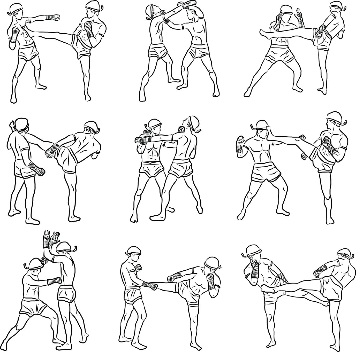 Hand Hand Combat Moves