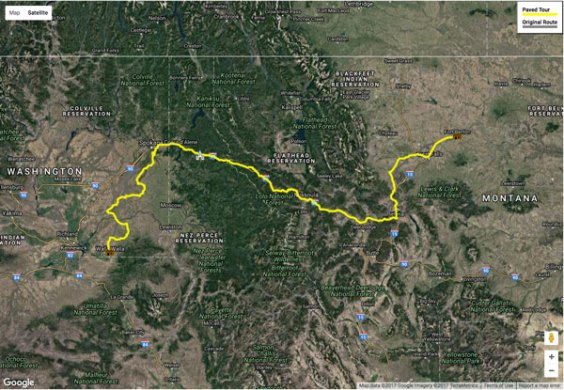 Driving Route   Mullan Road Today View map      Google map showing the paved driving route between Fort Walla  Walla and Fort Benton