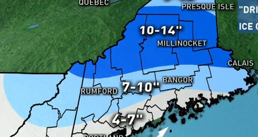 HD Decor Images » Portland area to get at least 6 inches of snow on Tuesday   Portland     Much of Maine is expected to see snowfall from a winter storm Tuesday  Map  courtesy