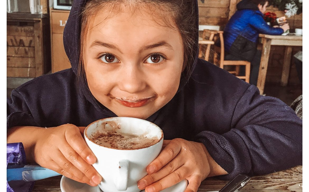 girl with hot chocolate