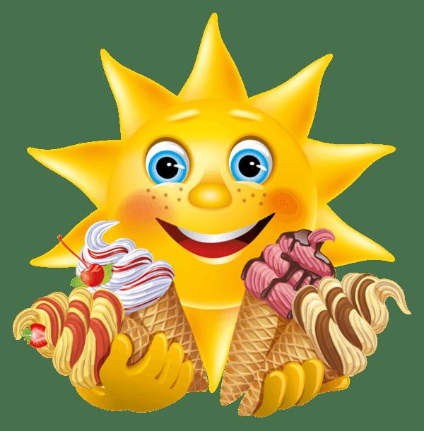 Emoticon Eating Ice Cream
