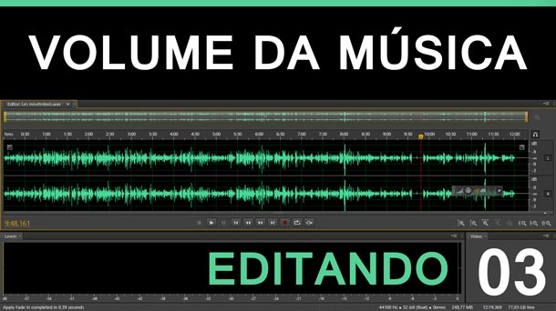 Editando #3 – Volume da Música | Adobe Audition