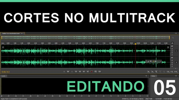 Editando #5 – Cortes de íudio no Multitrack | Adobe Audition