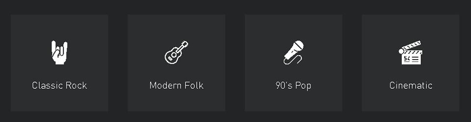 escolha o gênero da música no amper
