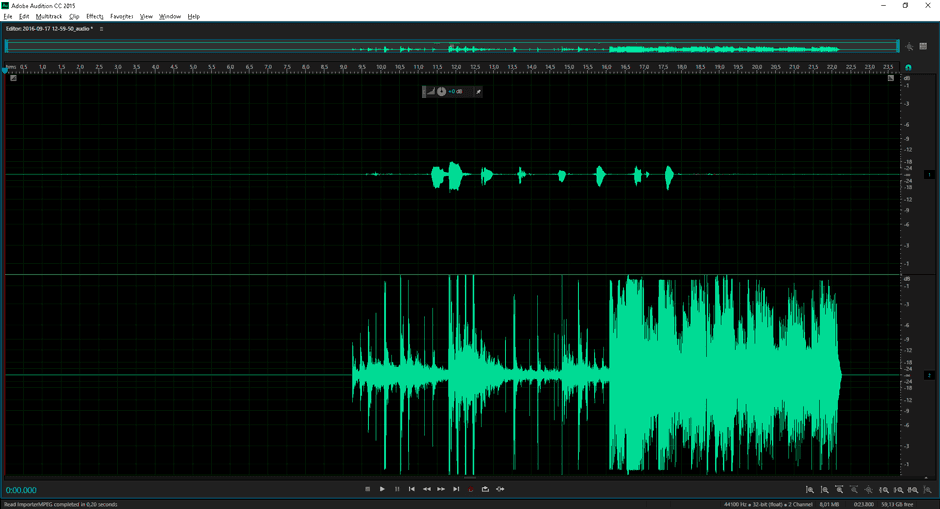 Extraindo o áudio do vídeo gerado